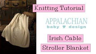 Irish Cable Stroller Blanket