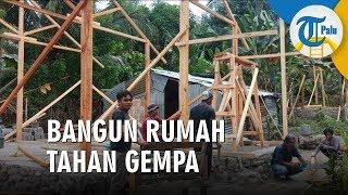 Warga Donggala Gotong Royong Bangun Rumah Tahan Gempa