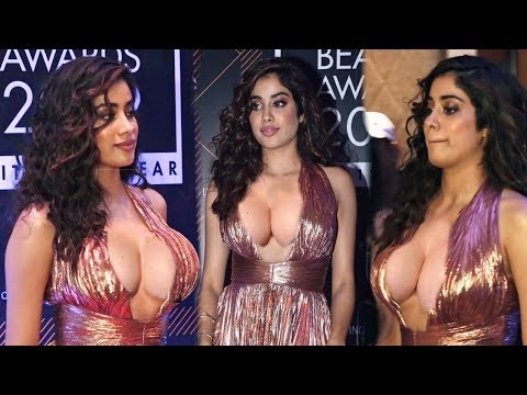 Janhvi Kapoor Unbelivably Changed Look in a metallic gown at Elle Beaty Awards 2019