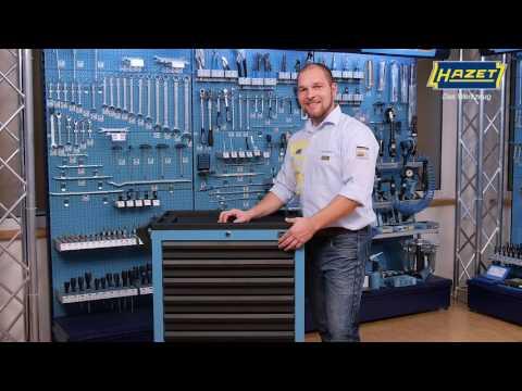 HAZET Werkstattwagen Assistent 178 N-7 mit 147 Werkzeugen
