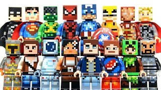 New LEGO Minecraft Skin Pack 1 & 2 plus DC & Marvel Super Heroes Minifigures