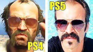 ЗАПУСТИЛ GTA 5 НА PLAY STATION 5 !! КАК ВЫГЛЯДИТ ГТА 5 НА PS5 ?!
