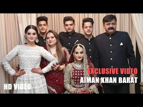 Aiman Khan & Muneeb ButT Complete Barat  | Wedding Video - Ebuzztoday