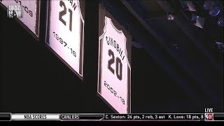 Manu Ginobili Gets His #20 Jersey Retired in San Antonio | March 28, 2019