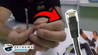 How to wire and connect RJ45 Plug and Boot on a CAT5E  Cable