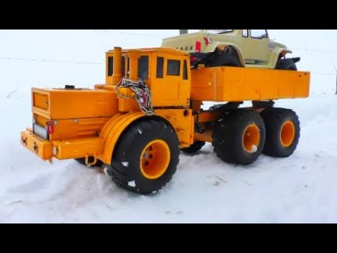 HEAVY RC URAL 4320 AT THE DEEP SNOW! FANTASTIC RC ACTION IN THE SNOW! COOL RC JEEP 4x4