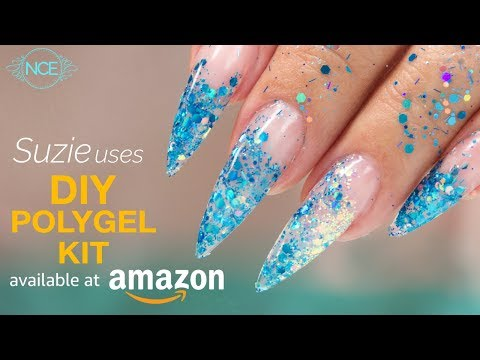 PolyGel Glitter Inlay Using Amazon DIY Kit