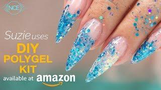 PolyGel Glitter Inlay Using Amazon DIY Kit