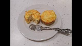 Low Carb Chicken Pot Pie Egg Muffin