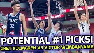 "7'1"" Chet Holmgren vs 7'3"" Victor Wembanyama For FIBA U19 CHAMPIONSHIP! 2022 & 2023 #1 NBA Picks!? 💰"
