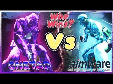 CS:GO HVH   AIMWARE V4 VS ONETAP (BEST!!) HvH Cheats??   NON