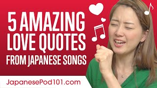 5 Amazing Love Quotes From Japanese Songs