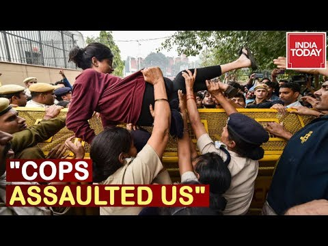 """""""Cops Assaulted Us"""" JNU Students Lay Out Demands, Protest Still Underway"""