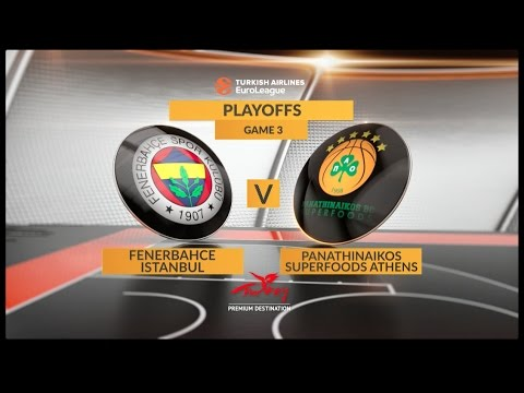 EuroLeague Highlights Playoffs 3: Fenerbahce Istanbul 79-61 Panathinaikos Superfoods Athens