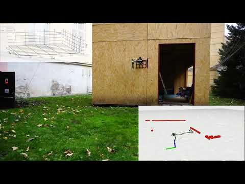 Touching the wall with a UAV