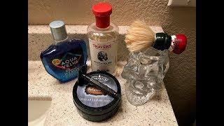 Sunday Shave with New Black Tiger Razor, Tobacco 2 Shavesoap & Aqua Velva Aftershave