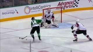 Jamie Benn with a wraparound goal thanks to great pass from brother Jordie