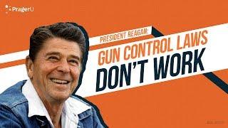 Ronald Reagan Discusses Gun Control Laws