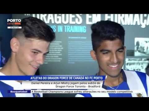 Canada's Dragon Force athletes visit the FC Porto