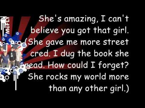 McFly - That Girl (Lyrics)
