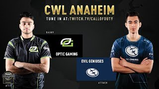 Optic Gaming vs Evil Geniuses | CWL Anaheim 2019 | Day 1