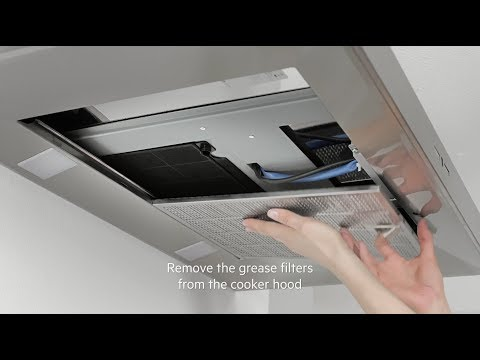 How to change your AEG cooker hood filter - Carbon filter