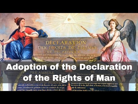 26th August 1789: Adoption of the Declaration of the Rights of Man by Constituent Assembly