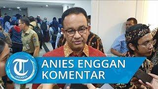Anies Tersenyum dan Enggan Komentar Penggusuran di Sunter, 'Tanya Ke Walikota Jakarta Utara'