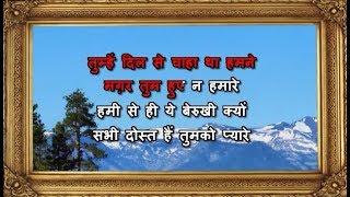 Tumhein Dil Se Chaha Tha - Karaoke - Meera Ka   - YouTube