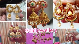 My Gold Earrings Collection With Weight | My Gold Jewellery | Gold Earrings