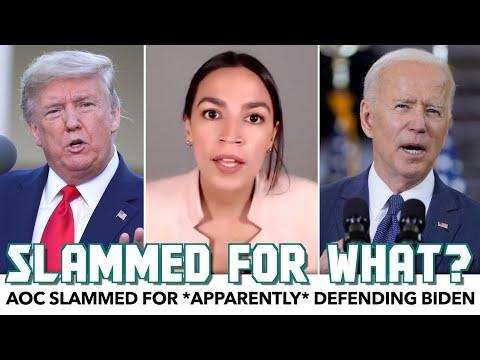 AOC Slammed For *Apparently* Defending Biden