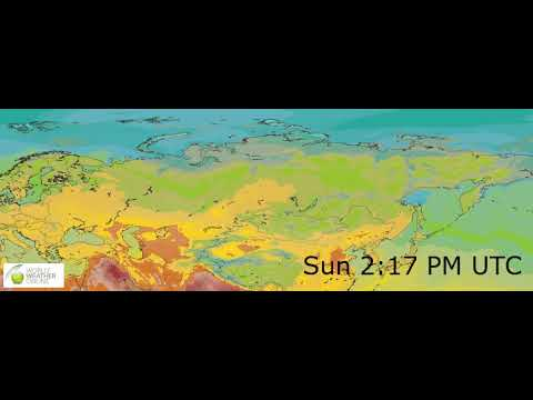 Eastern Europe Surface Temperature Weather Forecast HD: 24 May 2019 [Updated at 0000 hours UTC]