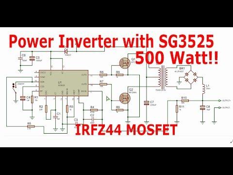 DIY 100W Solar Inverter using SG3525 PWM IC with Feedback Control