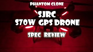 SJRC S70W GPS FOLLOW ME CAMERA DRONE SPECIFICATION REVIEW VIDEO