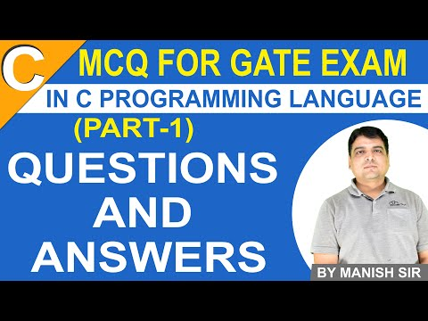 C Programming MCQ for GATE Exam Part 1   C language Questions ...