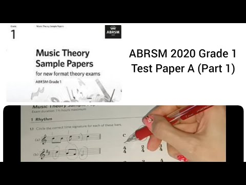 ABRSM 2020 Music Theory Sample Test Paper A (Part 1) - YouTube