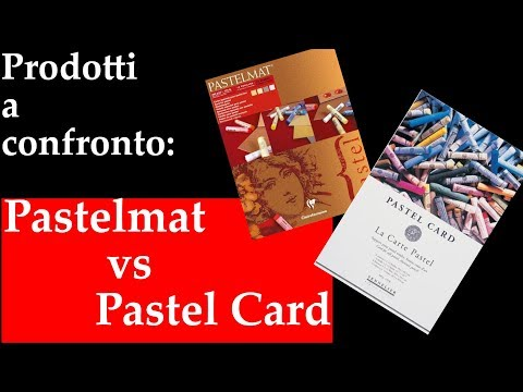 Due carte pastello a confronto Pastelmat VS Pastel Card