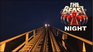The Beast HD Night Ride Front Seat On Ride POV & Review Great Wood Coaster At Kings Island