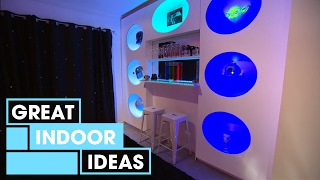 Futuristic Man-Cave Makeover | Indoor | Great Home Ideas