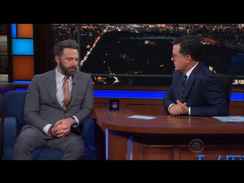 Ben Affleck Squirms as Stephen Colbert Grills Him on Sexual Misconduct