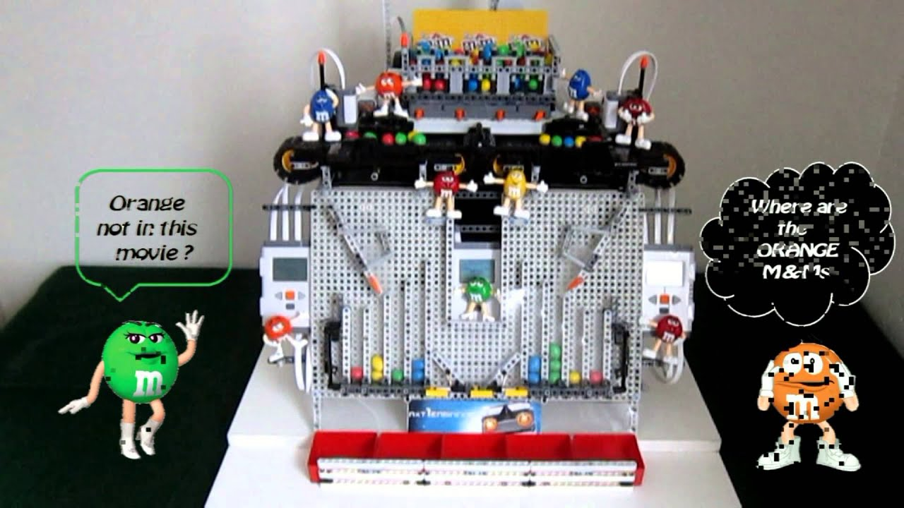 I Want This Lego Christmas M&M Sorting Machine Right Now