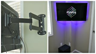 Minimalist TV Cable Management Tutorial - How To Hide TV Wires Without Cutting Holes In Your Wall!!