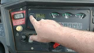 2005 John Deere 410G Backhoe Interior Controls - Equipped with Joystick Controls