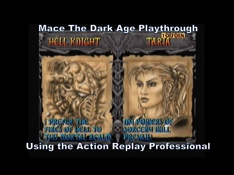 Mace the Dark Age Hell Knight Playthrough using the Action Replay Professional for N64 :D