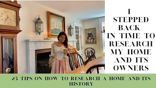 25 tips on how to research your house history and previous owners