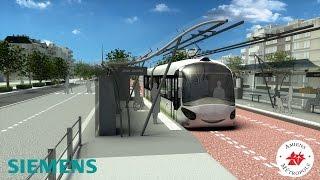 preview picture of video 'Amiens et Siemens  négocient pour expérimenter le bus électrique à recharge rapide.'