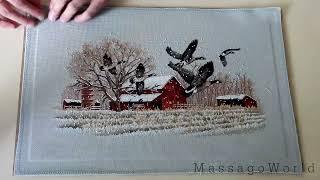 Как стирать и гладить вышивку? Как оформлять вышивку? Winter Geese (Dim) ЗАВЕРШЕН.