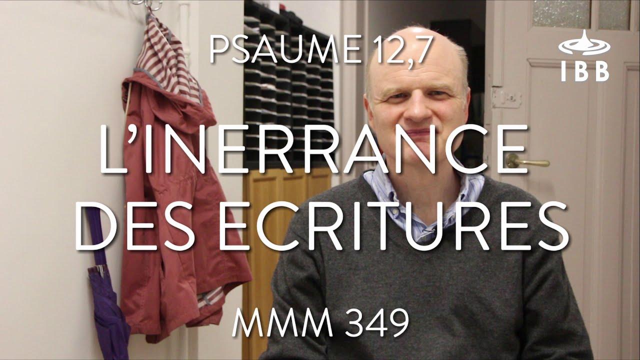 L'inerrance des Ecritures (Ps 12,7)
