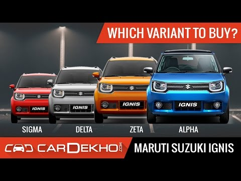 Which Maruti Ignis Variant Should You Buy? -