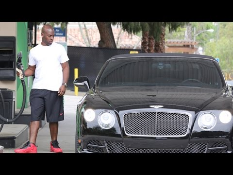 X17 EXCLUSIVE: Not Broken Up, Corey Gamble Takes Kris Jenner's Bentley For A Fill-up